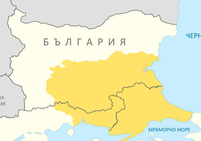 Thrace and present day state borderlines bg